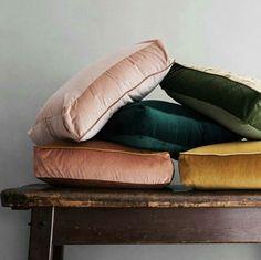 velvet pillows.