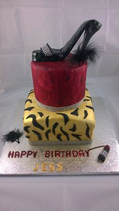 shoes birthday cake