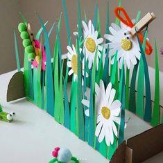 Для ВАС, РОДИТЕЛИ!(дети) Summer Crafts, Diy And Crafts, Crafts For Kids, Paper Crafts, Diy With Kids, Insect Crafts, Rolled Paper Art, Music Crafts, Cool Art Projects