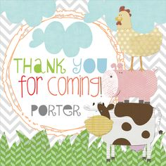farm boy stickers, barnyard party favor stickers, party favor stickers, farm party decor