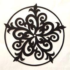 cut paper design Curly Star