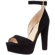 Jessica Simpson Women's Athens Platform Pump ($98) ❤ liked on Polyvore featuring shoes, pumps, heels, ankle strap platform pumps, high heel platform pumps, black platform shoes, open-toe pumps and high heel shoes