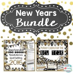 These two products are helpful in breaking the ice after the long winter break by helping your students celebrate the brand new year! Spectacular New Year's Resolutions will have your students setting smart goals for themselves and for the class. Punny Cards for the New Year are a fun treat to give your students and coworkers! Read more: https://www.teacherspayteachers.com/Product/New-Year-Bundle-2248956