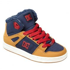 DC Shoes Rebound WNT blue red chaussures fourrées pour enfants 69,00 € #skate #skateboard #skateboarding #streetshop #skateshop @playskateshop