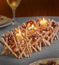 Bring winter charm inside this season with our unique and creative Twig Cone Multi Votive Holder featuring twigs, pine cones and votive candles! Bouquet Delivery, Flower Delivery, Best Candles, Votive Candles, Types Of Flowers, All Flowers, Holiday Meals, Holiday Recipes, Sympathy Plants