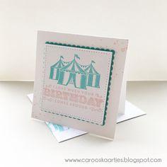 Stampin' Up!, Cupcakes and Carousels, verjaardagskaart, zelfgemaakte kaart, stempelen, Carousel birthday, Caro's Kaartjes