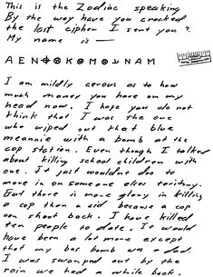 This cypher from Zodiac Killer, supposed to contain his name, is still unsolved since 1970...