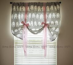 This valance is the perfect finishing touch for your nursery using Grey with White Elephant crib bedding. Check out my shop for a variety of