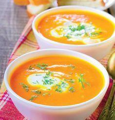 O supa gustoasa, care este foarte sanatoasa multumita vitaminelor din morcovi, si care se face intr-un timp foarte scurt. Lunch Recipes, Baby Food Recipes, Cooking Recipes, Romanian Food, Romanian Recipes, Good Food, Yummy Food, Diy Food, Curry