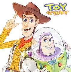 Toy Story- Woody and Buzz Lightyear Disney Pixar, Disney Fan Art, Disney And Dreamworks, Disney Animation, Disney Characters, Toy Story Movie, Toy Story Buzz, Woody Und Buzz, Pixar Animated Movies