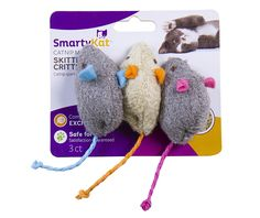 SmartyKat Skitter Critters Cat Toy Catnip Mice, 3 Pack >> Can't believe it's available, see it now : Cat toys