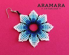 Flower Earrings, Crochet Earrings, Huichol Art, Native American Earrings, Etsy Earrings, Beadwork, Nativity, Flowers, Jewelry