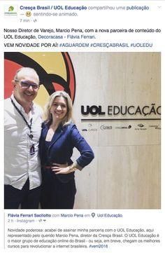Flávia Ferrari fecha parceria com UOL Educação para desenvolvimento de cursos online.