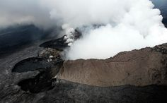 Aerial view of one of Hawaii's smoldering volcanoes. From Aerial America. http://www.smithsonianchannel.com/site/sn/show.do?episode=134778 #hawaii