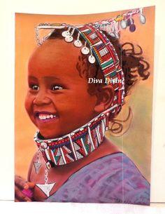 Peinture Pastel Sec pour Tableau Bohème Ethnique, Portrait ° ZAHARA ° - PEINT A LA MAIN