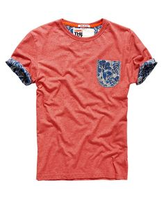 Superdry Honolulu Roll T-shirt Red