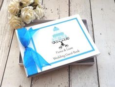 classic frame personalised wedding guest book cake