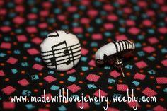 Music Note Stud Earrings by Shanana on Etsy, $5.00