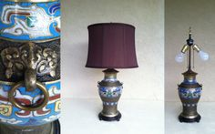 Vintage EGYPTIAN/MOROCCAN Textured Brass Lamp by RetroStampedRare