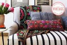 Global Inspiration: Vintage Textiles with Worldly Flair
