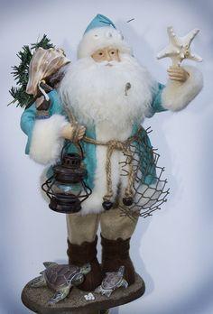 Coastal Christmas Blue Santa. I love it!!!