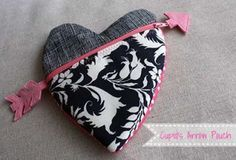 CUPID'S ARROW HEART POUCH
