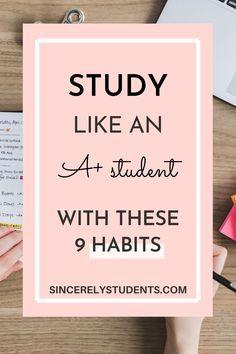 Best Study Tips, Exam Study Tips, School Study Tips, Study Skills, Good Study Habits, Study Tips For Students, Effective Study Tips, Study Techniques, Study Methods