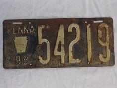 1917,1918 Vintage License plates,Penna, PA, Keystone Plate, lot of 2