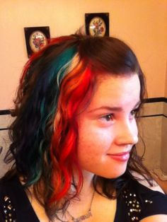 Wearable Rainbow hair