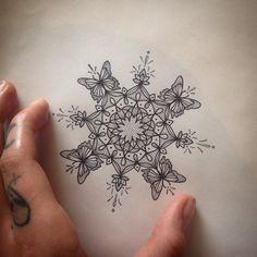 Butterfly Mandala Tattoo by Medusa Lou Tattoo Artist - medusaloux@outlook.com
