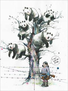 Panda Tree by Lora Zombie | Eyes On Walls