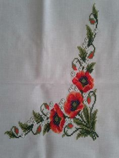 1 million+ Stunning Free Images to Use Anywhere Embroidery Art, Cross Stitch Embroidery, Cross Stitch Patterns, Free To Use Images, Rico Design, Christmas Cross, Poppies, Needlework, Diy And Crafts