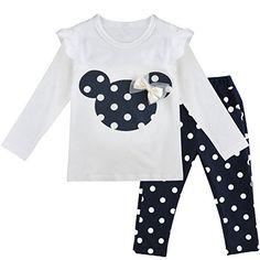 iEFiEL Conjuntos de Top y Pantalones Largas para Niñas y Bébes Camiseta de Manga Larga Minnie + Leggings Azul Oscuro 12-18 Meses #camiseta #realidadaumentada #ideas #regalo