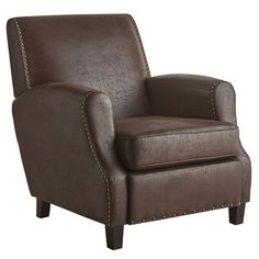 Ely Mahogany Brown Club Chair | Pier 1 Imports