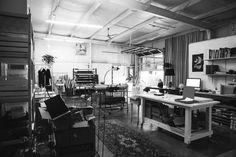 Studio of Elizabeth Suzann. A studio that is nearly as beautiful as her garments