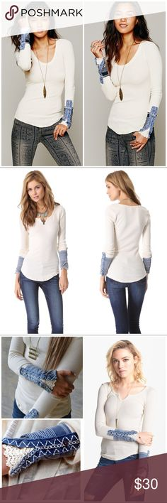 Free People Kyoto Cuff Thermal VGUC. Intentionally distressed. Fits true to size. Free People Tops