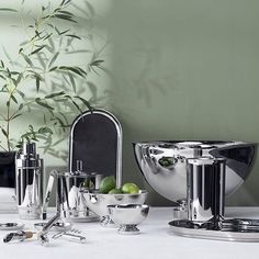 This set by @georgjensen fits beautifully with the green/natural #theme #thematicthursday . . . . #accessories #buylocal #calgary #decor #design #dining #diningroom #georgjensen #homedecor #interiordesign #living #modern #moderndesign #roominspo #roominspiration #staging #shoplocal #shopyyc #tabletop #robertsweep #yyc