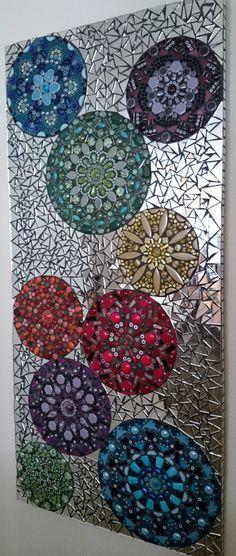Caleidoscopio colorido mosaico arte vidrio por NicholeAubreyMosaics