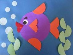 Inspire your kids to discover the creative world of paper crafts for weekend or holiday fun. These awesome yet easy DIY paper crafts for kidsguarantee great fun and learning too. Sea Crafts, Paper Crafts For Kids, Diy Paper, Paper Art, Diy And Crafts, Arts And Crafts, Paper Fish, Circle Crafts, Cute Diys