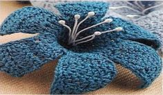 Flowers crochet - how to using graphics - Crochet Here