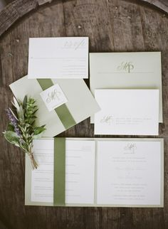 LOVE this color green!!!  vineyard wedding, purple wedding ideas, green wedding ideas, rustic wedding ideas, herbs, lavender bouquet, personalization, fragrant, Tuscan style, outdoor wedding ideas