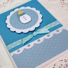 Baby Boy Card, Welcome Baby Boy Card, Congratulations Baby Card, Baby Shower Card, Blue Bottle Baby Boy Card. $4.25, via Etsy.