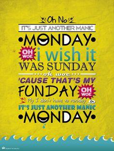 No me gustan los lunes :(  I don't like Mondays :(