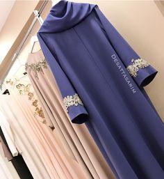 Müşterimiz iyi günlerde kullansın Islamic Fashion, Muslim Fashion, Abaya Designs, Dress Designs, Hijab Style Tutorial, Hijab Style Dress, Modele Hijab, Simple Gowns, Mode Abaya