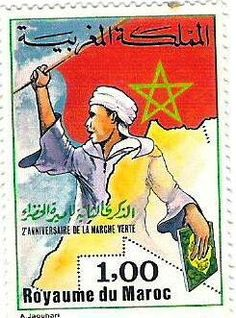 Post Morocco, anniversary of the green march. Popular Hobbies, 2nd Anniversary, Vintage Travel Posters, Stamp Collecting, Mail Art, Vintage Pictures, Postage Stamps, Africa, History