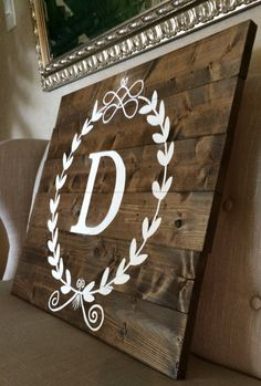 Personalized Crest Wooden Sign on Etsy.
