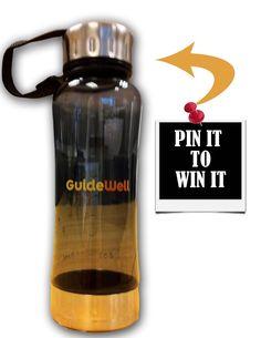 Pin it to Win It! Win a GuideWell Water Bottle! Winner chosen on February 26th!! Pin, Pin, Pin!:) #fitness