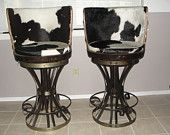 moooo...haha, just had to pin them.  Iron and Barrel High swivel bar stools
