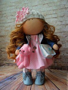 Купить Рыжуля в беретке - комбинированный, кукла в подарок, кукла ручной работы, кукла интерьерная