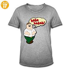 Family Guy Peter Griffin Hehehe Männer Vintage T-Shirt von Spreadshirt®, L,